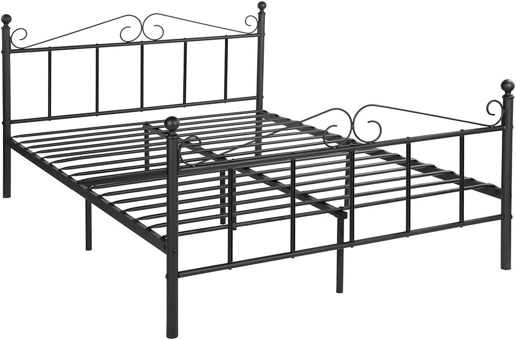 GreenForest Full Size Metal Bed Frame with Headboard and Footboard Double Mattress Foundation Platform Box Spring Replacement, Black