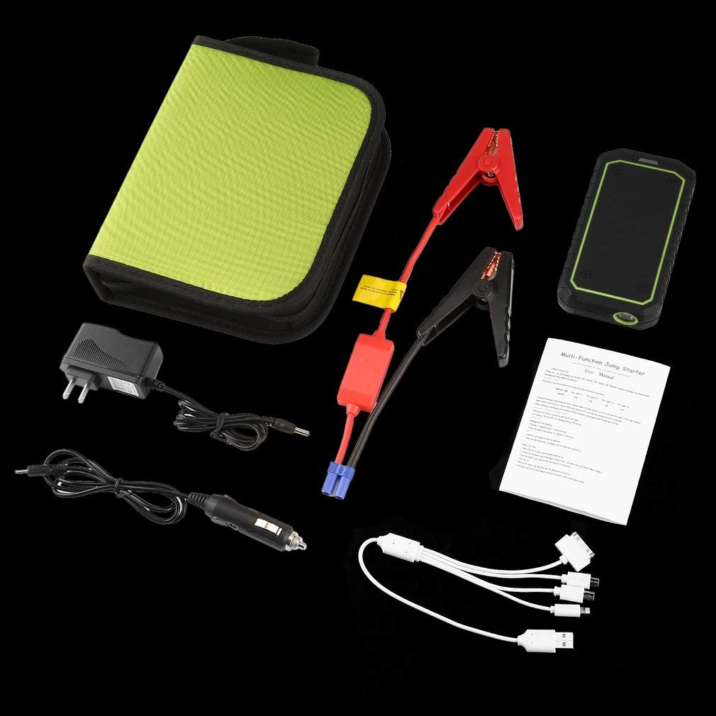 FDBF 30000mAh Emergency Starting Power Supply Portable Car Jump Starter Booster verde