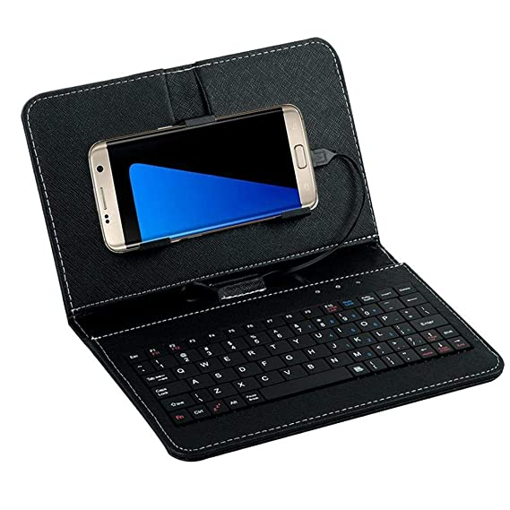 Amazon com: Adoeve Portable General Wired Flip-Cover Phone Keyboard