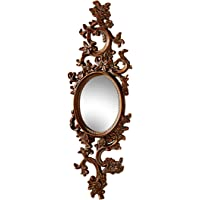 Design Toscano MH21669 Delphine Accent Wall Mirror, Bronze