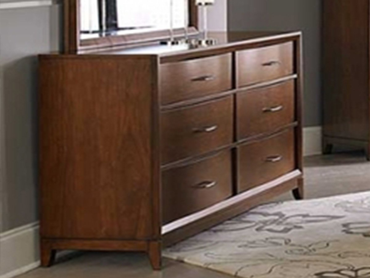Kasler Dresser by Home Elegance in Medium Walnut