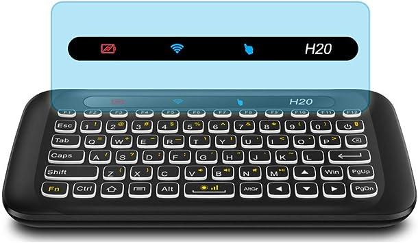 H20 RGB Mini Full QWERTY Teclado con Panel táctil de Ancho Completo con Gestos para Android TV Box, HTPC, Smart TV Control, PC: Amazon.es: Electrónica