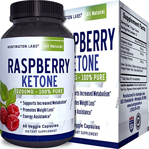 Raspberry Ketones Weight Loss Supplement with African Mango Green Tea Apple Cider Vinegar - Natural Fat Burner Diet Pills Fast Acting Metabolism Booster for men and women 60 Capsules