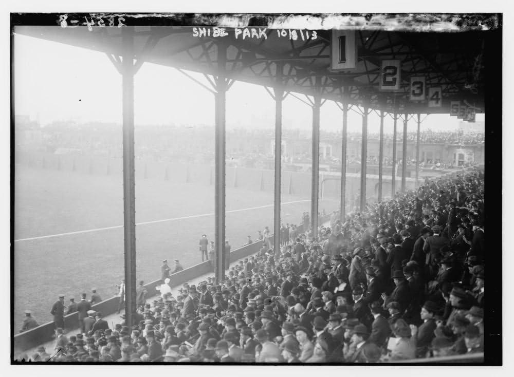 Amazon|1913フォト1st Base Grandstand atシャイブ・パーク、フィラ ...
