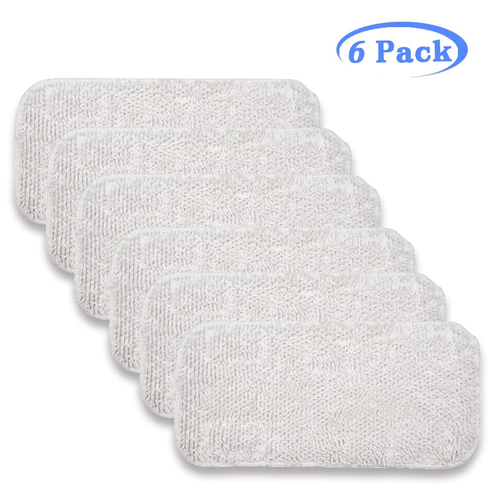 Hycles 6 Pack Sienna Luna Cloth Pads Microfiber Mop Pads Fit for Steamer Head SSM-3006 Washable Cleaning Replacement Pads for Floor