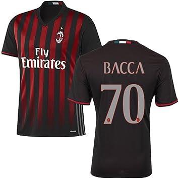 EKUKJSC-Sports 2016 2017 AC Milan Camiseta de 70 Carlos baccahome fútbol fútbol Jersey de