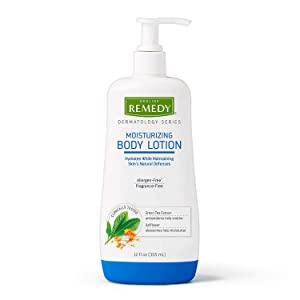 Remedy Dermatology Series Body Lotion for Dry Skin, 12 Oz, Unscented Lotion, Paraben Free, Lotion for Sensitive Skin