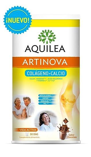 AQUILEA - URIACH AQUILEA Artinova Colágeno+Calcio con Ácido Hialurónico y Vitamina C,D3 y K2 Sabor Choco 495g: Amazon.es: Belleza