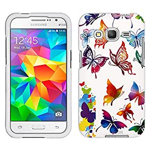Samsung Galaxy Core Prime Case, Snap On Cover by Trek Colorful Butterflies Case