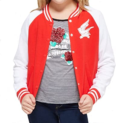 Details about  /NWT* JUSTICE GIRLS SIZE 10 12 14//16 ALL GOOD ZIP UP GIRLS RED HOODIE JACKET