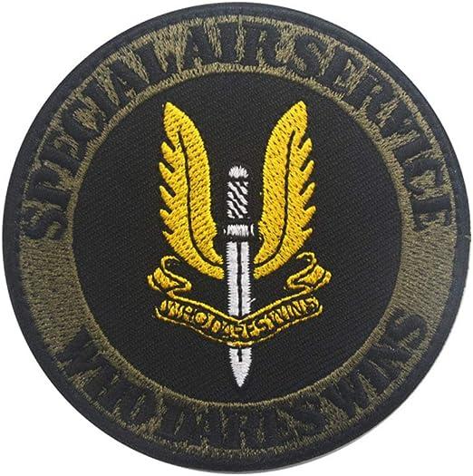 Ohrong Parche Redondo para Airsoft SAS, Bordado con el Logotipo del Equipo de Aire Especial Que