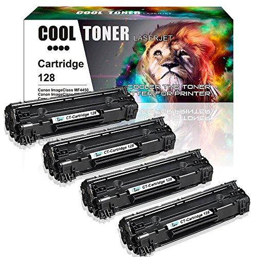 Cool Toner 4 Packs CRG128 Cartridge 128 Toner Cartridge Compatible for Canon 128 Toner Canon D530 MF4880dw MF4770n Toner Canon ImageCLASS D530 MF4770n MF4890dw Toner
