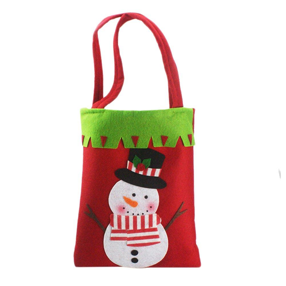 Chytaii Borsa a Caramelle Natale Borsa a Mano Sacchetto Tasca portaoggetti Regali Cioccolato Biscotti per Bambini BOMBONIERA Mignonne in Feltro Accessorio Decorazione Confezione Piccoli Regali