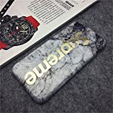 """Supreme Marble iPhone 7 & iPhone 8 Silicone Protective Phone Case - 4.7"""" (White)"""