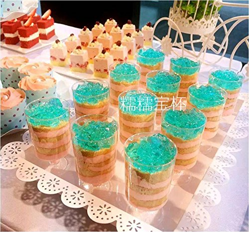 BB50PCS 100ml disposable plastic cocktail wedding party cup glasses (Cool Mountain Mint Tea)
