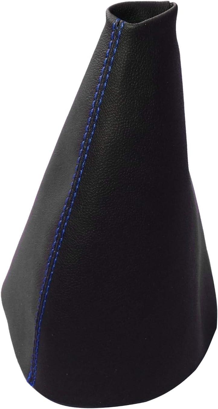 AERZETIX noir avec surpiq/ûres rouges Soufflet de levier de vitesse en simili cuir avec couture//surpiq/ûres couleurs variables