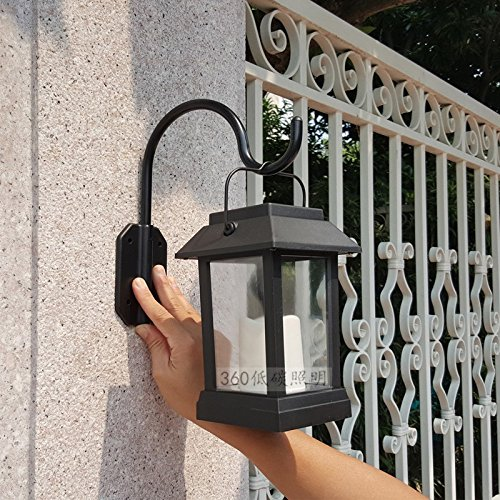Ehime Außenwandleuchten Außenbeleuchtung Wegeleuchten Laternen für den Garten Solarleuchten Innenhof im Freien Blick Licht Haus Hof Garten Licht solar Wandleuchte
