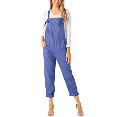 YOINS Fashion Overalls for Women Bib Baggy Dungaree Square Neck Adjustable Strap Rompers Jumpsuits at Women's Clothing store