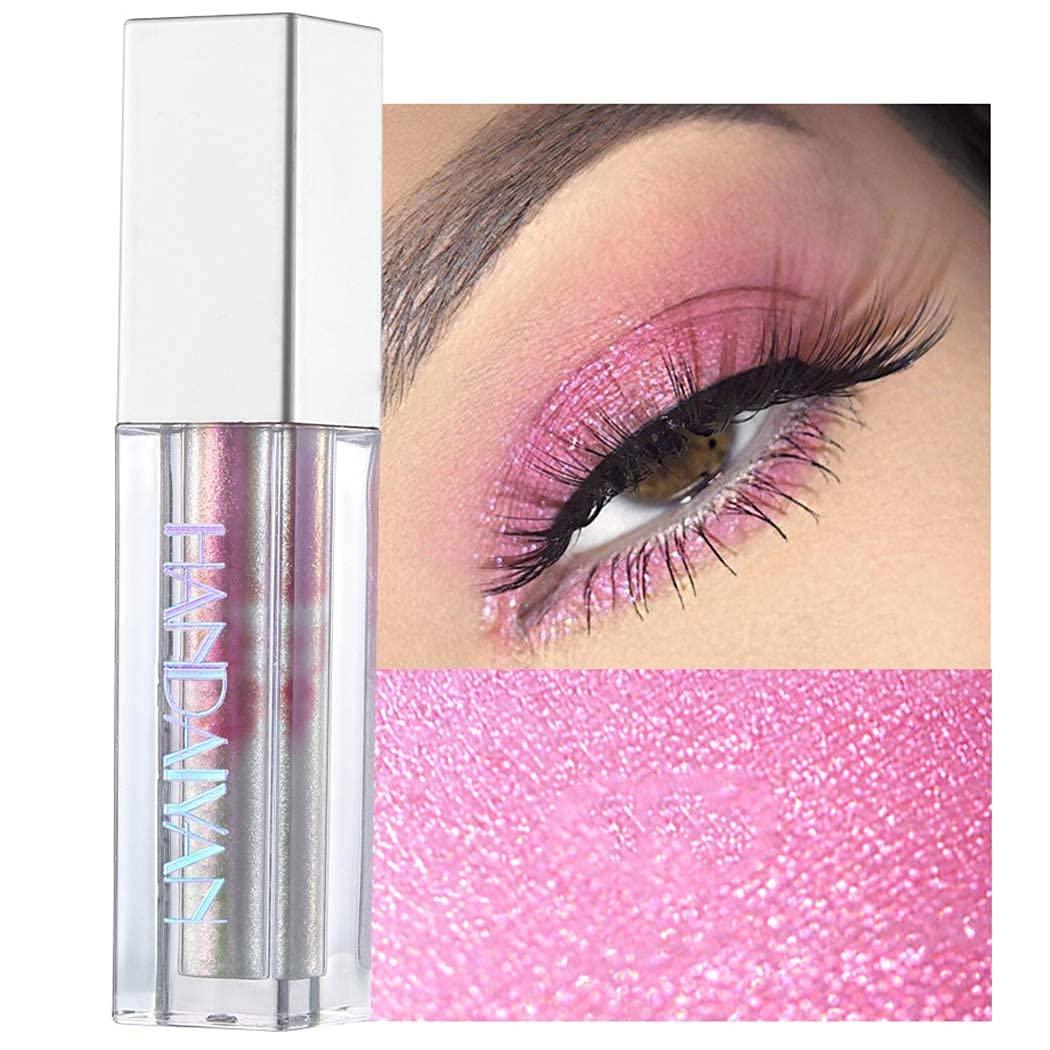 Kisshine Liquid Eyeshadows Colorful Long Lasting Eye Shadow Party Shimmer Waterproof Eyeshadow Cosmetics Gift For Women and Girls Pack of 1 (Pink 07#)