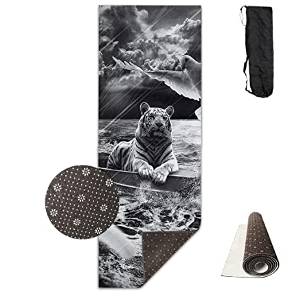 Amazon.com : colory Yoga Mat with Carrying Bag Sailing Tiger ...
