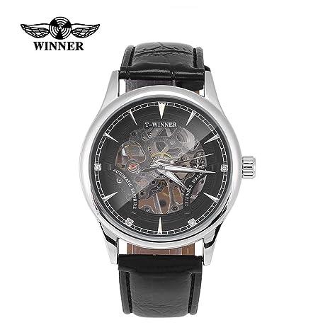 Tipos ganadores reloj de pulsera mecánico ahuecado a mano masculino de la  venda del reloj jpg d6bb09e35111