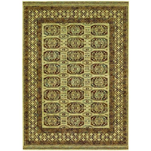 Couristan 4708/0066 Timeless Treasures Afghan Panel Area Rugs, 7-Feet 10-Inch by 11-Feet, Antique Cream