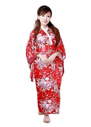Amazon.com: JTC – Kimono Japonés vestido Uno Tamaño de la ...