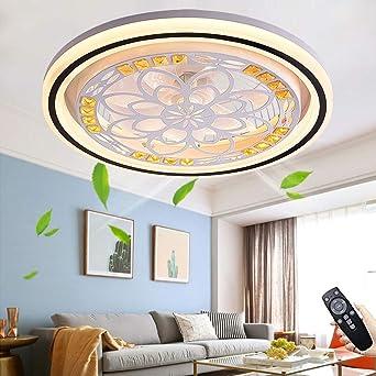 Fan Ceiling Fan Quiet Fan Light With Lighting Led Fan Ceiling Light With Remote Control Dimmable Fan Ceiling Lamp Modern Fan Ceiling Light For Children S Room Bedroom Living Room Round Amazon De