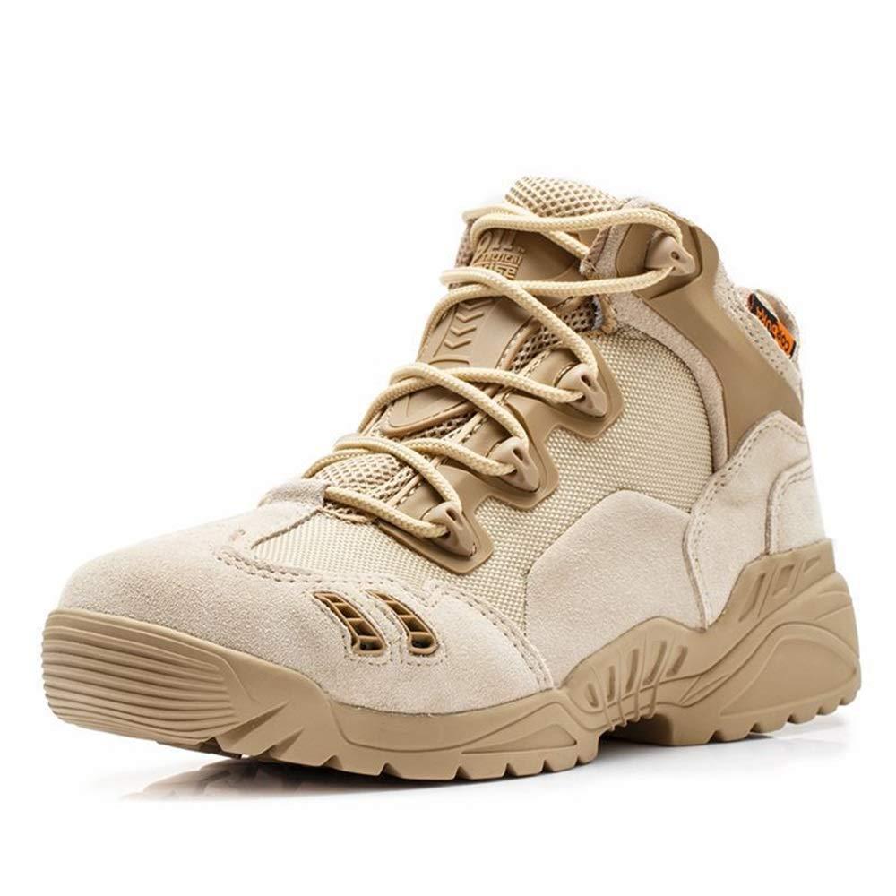 Jincosua Herren Militärstiefel Desert Moutain Klettern Klettern Klettern Weiche Sohle Rutschfeste Outdoor Stiefel (Farbe   Natürlich, Größe   EU 44) db6f1b