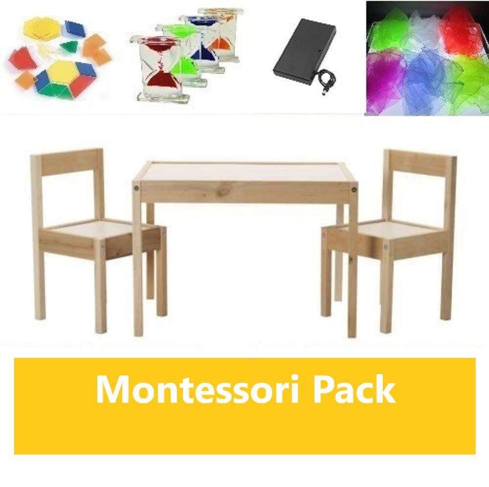 Pack mesa de luz Montessori RGBW 64x48cm + materiales: Amazon.es ...