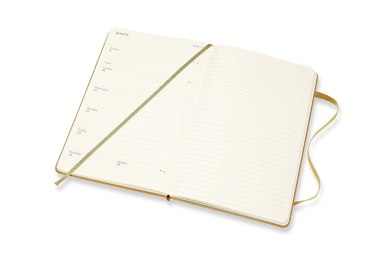 Moleskine 2019-20 Weekly - Agenda Cuaderno Semanal de 18 Meses 2019/2020, Amarillo maduro, Tamaño Grande 13 x 21 cm, 208 Páginas