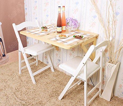 Amazon Com Sobuy Haotian Wall Mounted Drop Leaf Solid Wood Table
