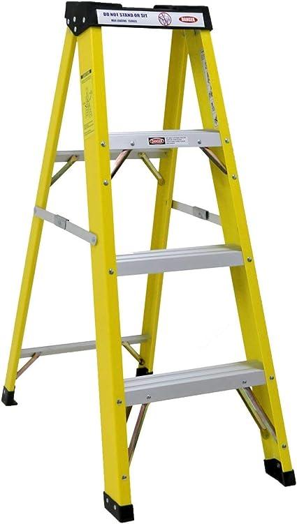 PRO USUARIO 4 Electricistas De Paso Fibra de vidrio Escalera De Mano con aluminio Dibujo Antiestáticas HAMBB-SL045: Amazon.es: Bricolaje y herramientas