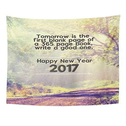 Amazon.com: Emvency Tapestries Print 50x60 Inches Happy New Year ...