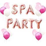 LaVenty 13 PCS Spa Party Balloons Spa Party Decoration Nail Polish Banner Spa Party Banner Spa Theme Birthday Party Salon Party Decoration Makeup Party Decoration