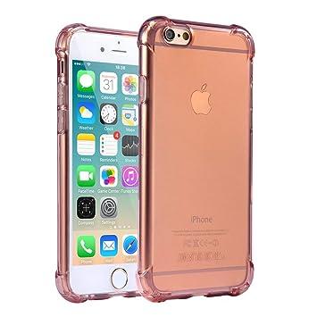 Funda iPhone 6 / 6S, Carcasa Protectora de Silicona Transparente ...