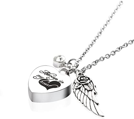 ANAZOZ Stainless Steel Ashes Necklace Memorial Cremation Jewelry Believe Gold Plated Cross Urn Keepsake Pendants