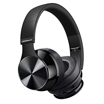 Hi-Fi estéreo inalámbrico auriculares,Bluetooth auriculares en oreja, plegable, suave memory-protein orejeras con auriculares, micrófono integrado y modo ...
