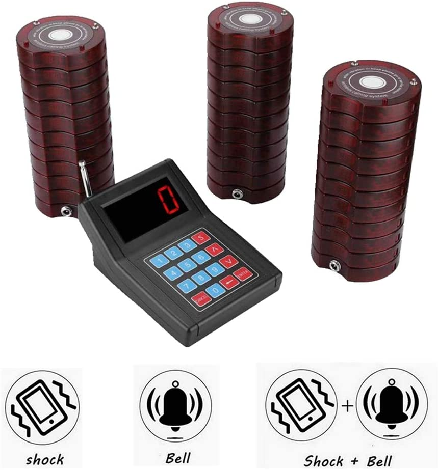 Bewinner SU-668 Sistema de Llamadas Inalámbrico Sistema de Espera de Buscapersonas 1*Transmisor de Teclado + 30 * Receptores de Sistema de buscapersonas Sistema de Cola de Paginaci(EU pulg)