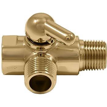 Gold Dual Showerhead Diverter Valve (Solid Brass) - Bathtub And ...
