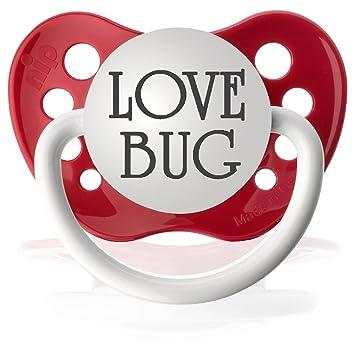 Amazon.com: Personalizado chupetes Chupete, Love Bug: Baby