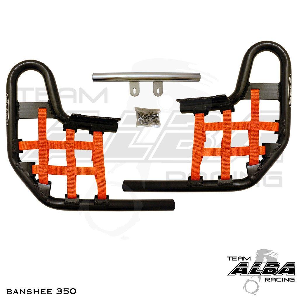 1987-2006 Standard Nerf Bars Black Bars w//Orange Net Yamaha Banshee YFZ 350