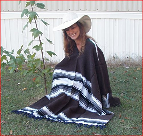 Sharpshooter Clint Eastwood Style Texmex Western Party Designer Burgandy Poncho