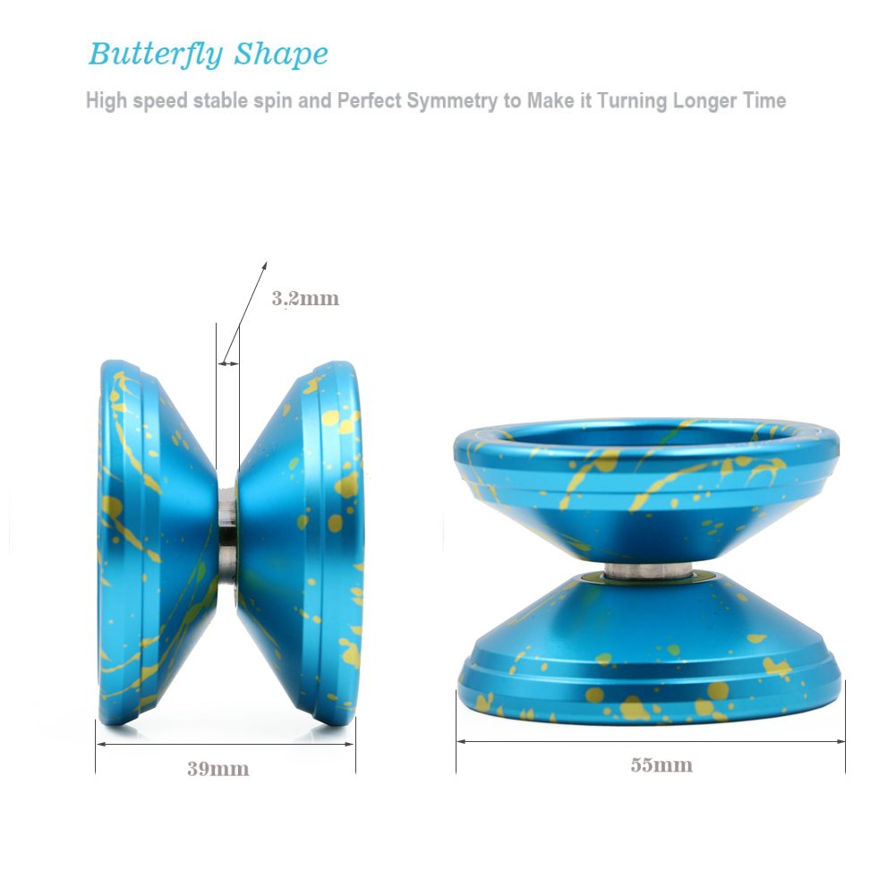 Magicyoyo Responsive Yoyo Ball V6 Locus Blue Red Silver Alloy Butterfly Diagram For Kids Beginners With Bag