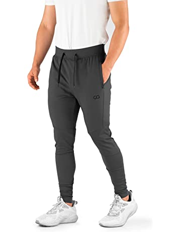 ad753c823c78 Contour Athletics Men s Joggers (Hydrafit) Track Pants Men s Active Sports  Running Workout Pant Zipper