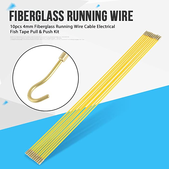 Fiberglass Fish Cable Puller Running Wire Cable Coaxial Electrical ...