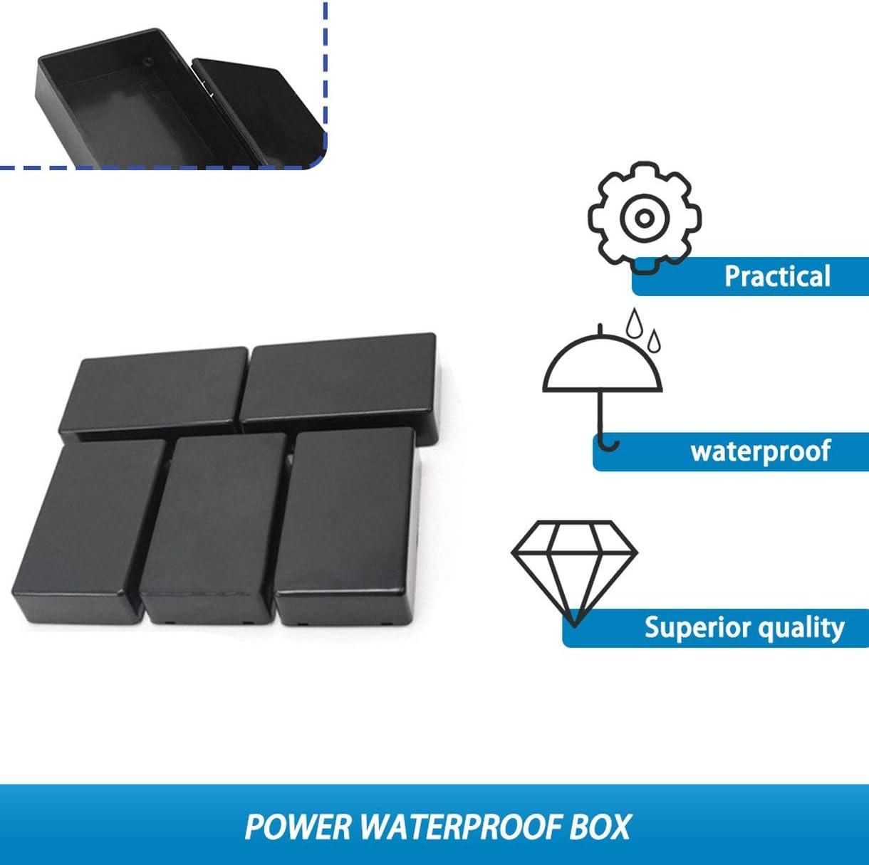 5 pcs DIY En Plastique En Plastique Projet /Électronique Bo/îte Bo/îtier Instrument 100x60x25mm /Électronique Stocks Puissance /Étanche Bo/îte couleur: noir