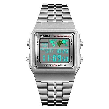 WERTY&K Reloj Digital Deportivo para Hombre - Relojes De Pulsera Electrónicos Militares Multifuncionales Impermeables con Cronómetro