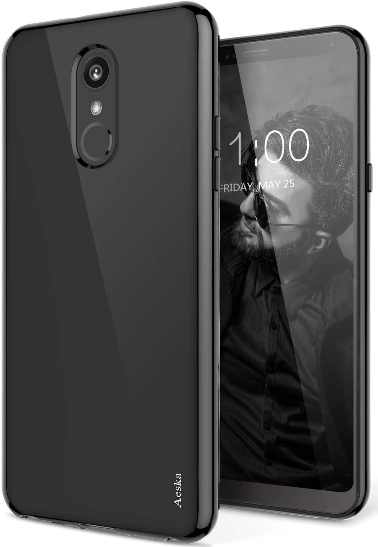 LG Stylo 4 Case, LG Q Stylus Case, Aeska Ultra [Slim Thin] Flexible TPU Soft Skin Silicone Protective Case Cover for LG Stylo 4 / LG Q Stylus (Black)