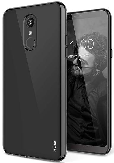 new style 9f93b fec62 LG Stylo 4 Case, LG Q Stylus Case, Aeska Ultra [Slim Thin] Flexible TPU  Soft Skin Silicone Protective Case Cover for LG Stylo 4 / LG Q Stylus  (Black)